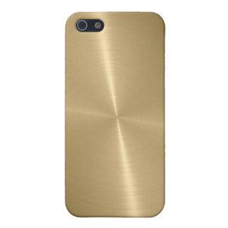 Métal brillant 3 d'acier inoxydable d'or coques iPhone 5
