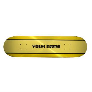Métal brillant d'acier inoxydable d'or plateaux de skateboards customisés
