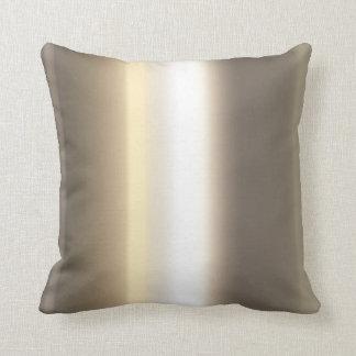 métal brillant d'or coussin