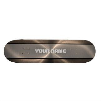 Métal brillant en bronze 2 d'acier inoxydable skateboard customisable