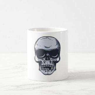 Métal crâne tête de mort METAL skull Mug Blanc