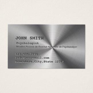Métal d'acier inoxydable de Faux de psychologue Cartes De Visite