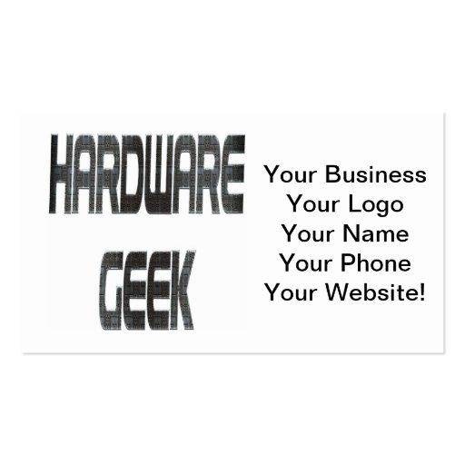 Métal de geek de matériel cartes de visite professionnelles