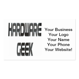 Métal de geek de matériel carte de visite standard