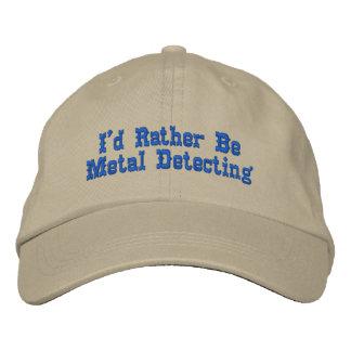 Métal détectant le casquette casquette brodée