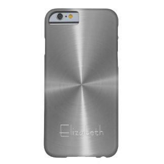 Métal en acier brillant argenté coque iPhone 6 barely there
