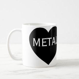 Métal lourd d'amour mug blanc