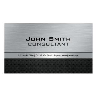 Métal noir argenté moderne élégant professionnel carte de visite standard