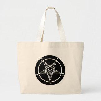 métal noir, baphomet, seigneur d'obscurité ! grand sac