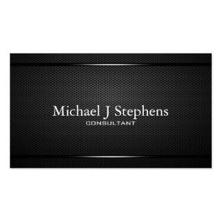 Métal noir professionnel de Minimalistic texturisé Cartes De Visite Personnelles