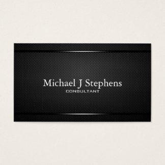 Métal noir professionnel de Minimalistic texturisé Cartes De Visite