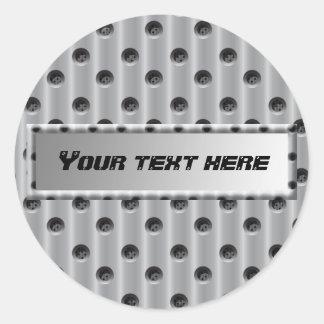 Métal-Regard Sticker Rond