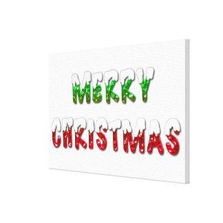 Métal vert et rouge de Joyeux Noël avec la toile
