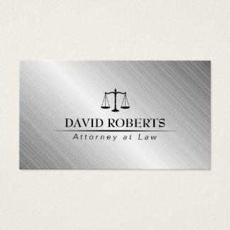 Métallique moderne de cabinet juridique de cartes de visite