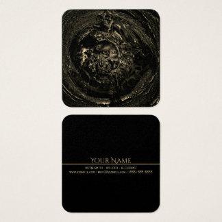 Metalsmith bronzage noir FONDU Carte De Visite Carré