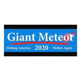 Météore géant 2020 Amérique de fabrication fondue Carton D'invitation 10,16 Cm X 23,49 Cm