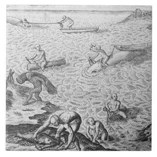 Méthode indienne de pêche à la baleine, d'un compt grand carreau carré