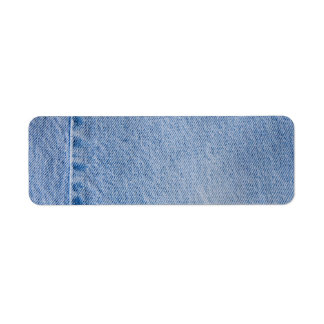 Métier d'étiquette de adresse de jeans de denim étiquettes d'adresse retour