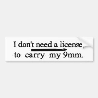 Métiers de permis de crochet de crochet autocollant de voiture