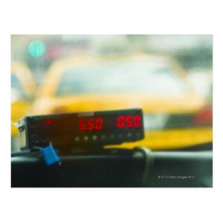 Mètre de taxi carte postale