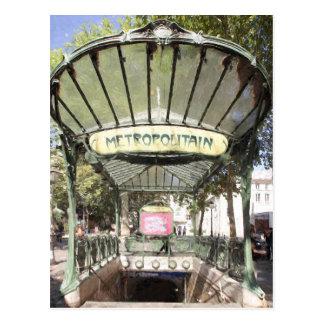 Métro d'abbesses, Montmartre, Paris Carte Postale