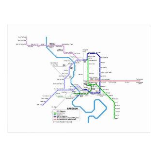 Métro de Bangkok Carte Postale