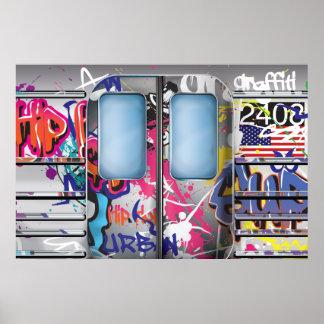 Métro de graffiti posters