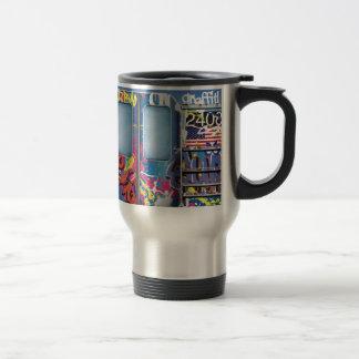 Métro de graffiti mug de voyage en acier inoxydable