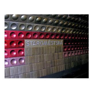 Métro futuriste, Prague Cartes Postales