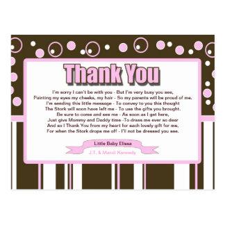 Métro rose carte postale