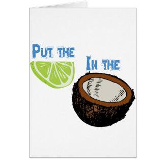 Mettez la chaux dans la noix de coco ! carte de vœux
