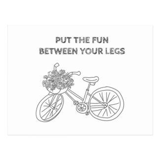 Mettez l'amusement entre vos jambes carte postale