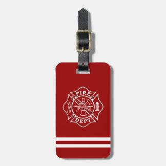 Mettez le feu au département/à l'étiquette de étiquettes bagages