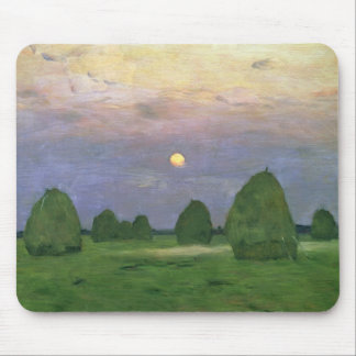 Meules de foin au crépuscule, 1899 tapis de souris