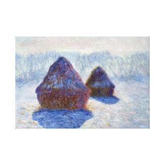Meules de foin de Claude Monet dans la neige et le Toiles