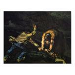 Meurtre, par Paul Cézanne (la meilleure qualité) Carton D'invitation 10,79 Cm X 13,97 Cm