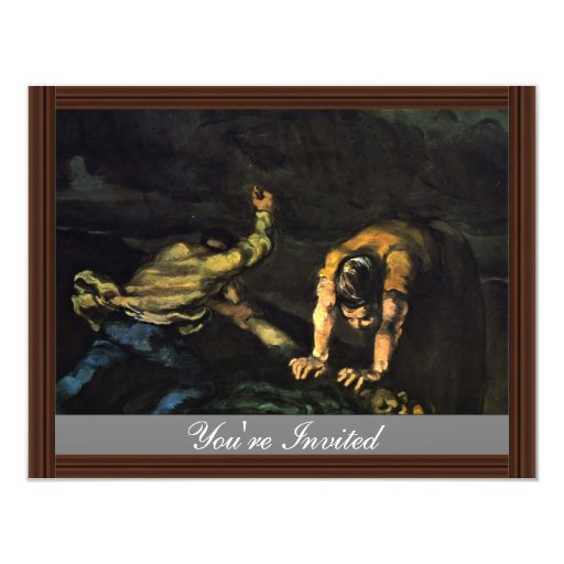 Meurtre, par Paul Cézanne (la meilleure qualité) Invitations Personnalisées
