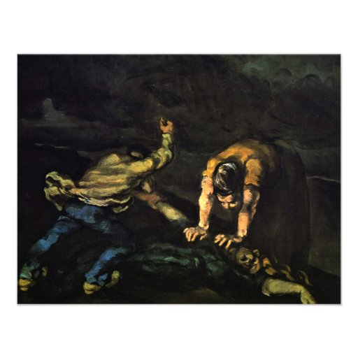 Meurtre, par Paul Cézanne (la meilleure qualité) Invitation Personnalisée