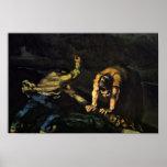 Meurtre, par Paul Cézanne (la meilleure qualité) Posters