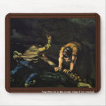 Meurtre, par Paul Cézanne (la meilleure qualité) Tapis De Souris