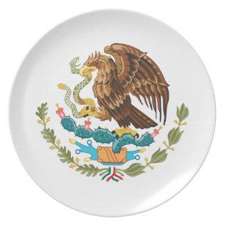 Mexicain Eagle et serpent Assiettes En Mélamine