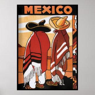 Mexicains Zarapes d affiche de voyage de du Mexi
