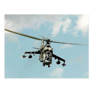 Mi-24 de derrière carte postale