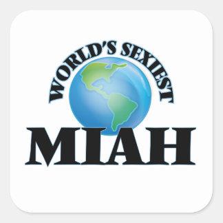 Miah le plus sexy du monde autocollants carrés