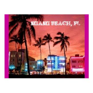 Miami Beach, la Floride Carte Postale