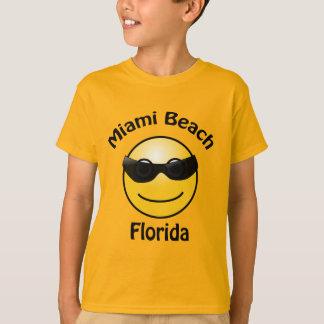 Miami Beach la Floride Smilie badine le T-shirt