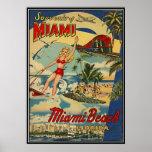 Miami Beach vintage, la Floride, Etats-Unis - Poster