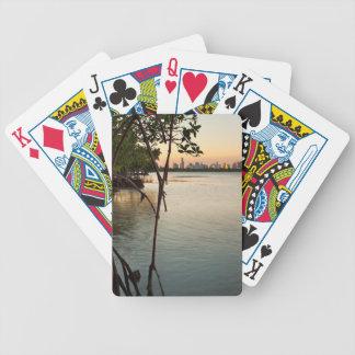 Miami et palétuviers au coucher du soleil jeu de cartes