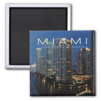 Miami la Floride à l'aimant de réfrigérateur de Magnet Carré