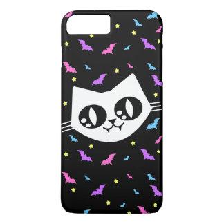 Miaulent les chauves-souris de chat de Kawaii de Coque iPhone 7 Plus